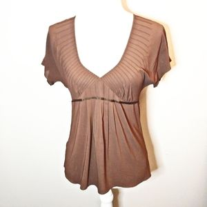 Theory Brown Suze Blouse Size Small